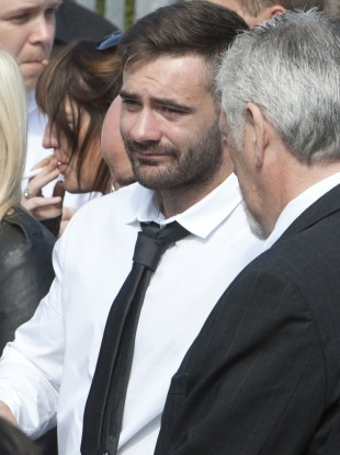 Murdered Dublin man Vincent Ryan at the funeral of his brother Alan in 2012.