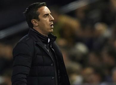 Valencia coach Gary Neville