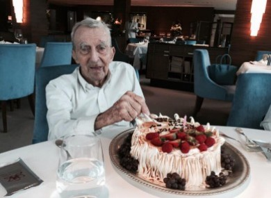 Joseph Mallin celebrated his 102nd birthday in Hong Kong last September.