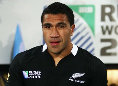 Mils Muliaina at the 2011 Rugby World Cup.