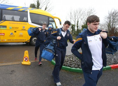 The Roscommon players will have to bus it to Pearse Park in Longford this weekend.