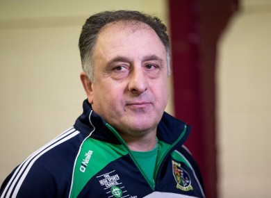 Ireland coach Zaur Antia.