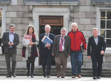 Independent Alliance TDs outside Leinster House.