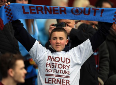 Aston Villa fans staged mass protests this afternoon.