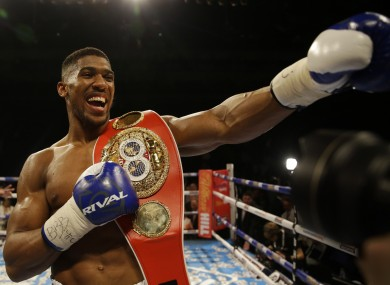 Joshua won his title earlier this month.
