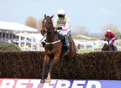 Douvan on his way to winning the Novices' Chase at Aintree earlier this month.