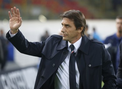 Conte: Italian coach will head for London after Euro 2016.