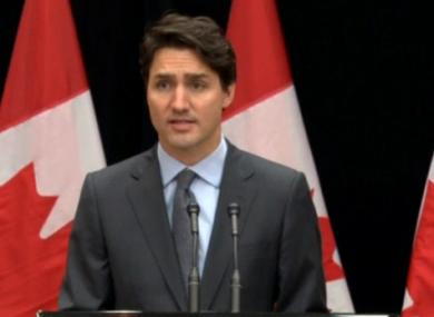 Canadian PM Justin Trudeau