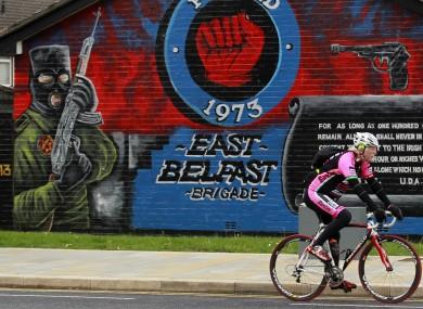 A loyalist mural in east Belfast.