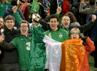 Ireland are expected to have a large following in France.