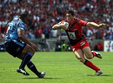 Williams: All Black code-breaker played for Toulon in 2008.