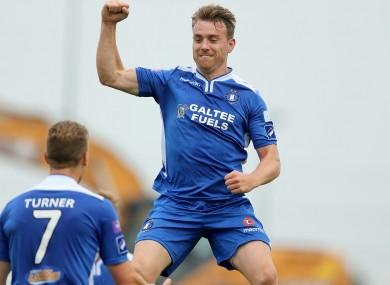 Vinny Faherty celebrates a goal (file pic).