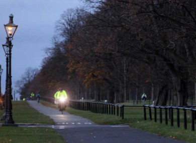 File Photo: Cyclists cycling down Chestfield Avenue in the Phoenix Park
