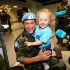 Cprl John with his daughter Blathnaid McGuigan (3) from Newry. <span class=