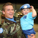 Cprl John and his daughter Blathnaid McGuigan (3) from Newry. <span class=