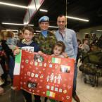 Private Michelle Tarpey, Jeremiah Loughnane, Nathen (12) and Grace (7).<span class=