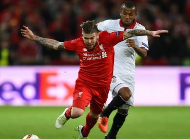 Liverpool left-back Alberto Moreno