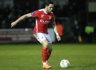 Pat's goalscorer Billy Dennehy.