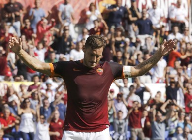 Totti has made 15 apperances for Roma this season.