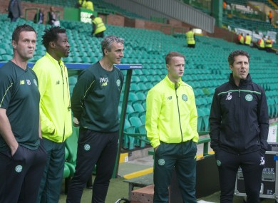 McGuinness alongside former manager Ronny Delia last year.