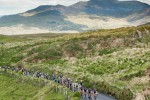 The peloton climbs out of Waterville.