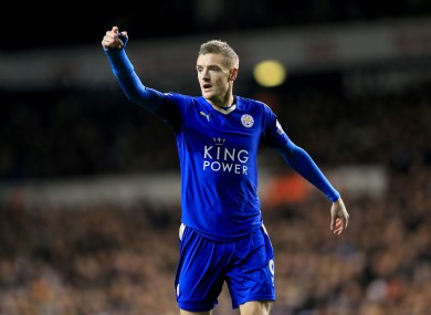 Vardy has helped Leicester to the brink of Premier League glory.