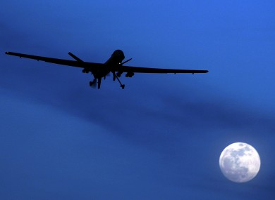 An unmanned US Predator drone flies over Afghanistan.