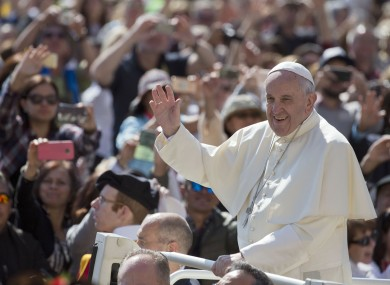 Pope Francis pictured in St Peter's Square earlier this month