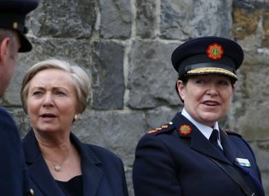 Tánaiste Frances Fitzgerald and Garda Commissioner Nóirín O'Sullivan.