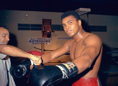 Muhammad Ali (file pic).