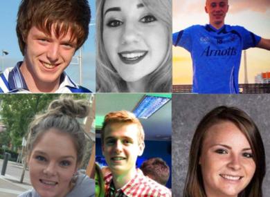 Eoghan Culligan, Eimear Walsh, Niccolai Schuster, Ashley Donohoe, Loran Miller and Olivia Burke.