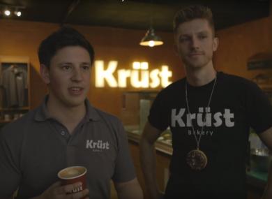 Krüst co-owners Garret Flower (left) and Rob Kramer
