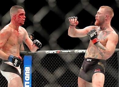 Diaz defeated McGregor at UFC 196.