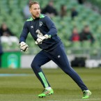 For the Ireland goalkeeper, disaster struck in the friendly against Slovakia in March when he tore his cruciate.<span class=