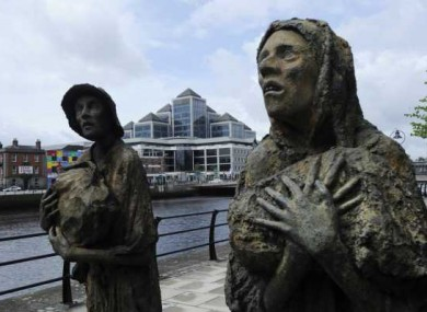 Famine Statues on the Dublin Docklands