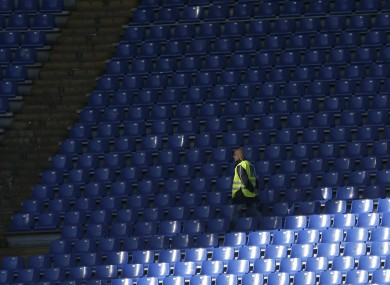 Empty seats at the Stadio Olimpico: this could be a familiar sight at Lazio games next season.