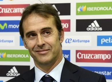 Spain coach Julen Lopetegui.