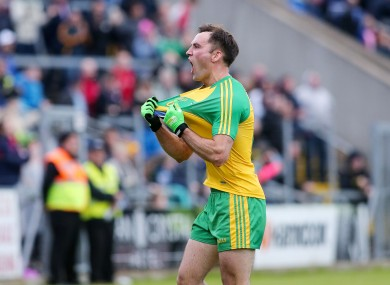 Donegal's Karl Lacey celebrates after the game.
