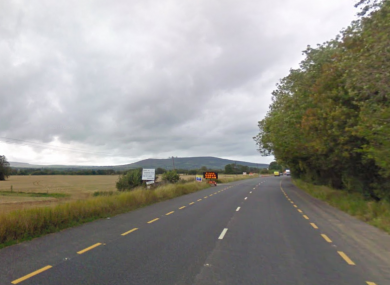The N72 at Longueville, Eden Hill, Mallow, Co Cork, where one of the crashes happened.