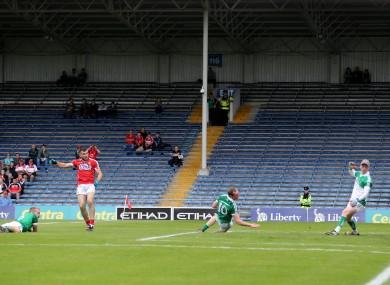 Peter Kelleher scored a first-half goal for Cork.