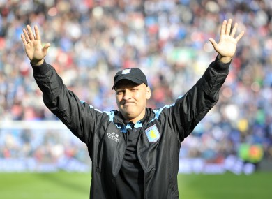 Aston Villa's Stiliyan Petrov salutes the fans after announcing his retirement from football in 2013.