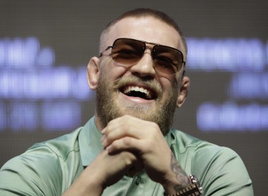 Conor McGregor at the UFC 202 press conference.