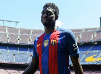 Samuel Umtiti has become Barcelona's latest signing.