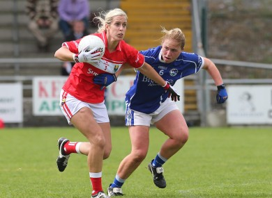 Cork's Brid Stack and Cavan's Laura Fitzpatrick