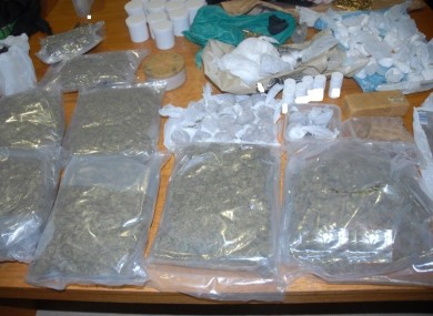 Drugs seized by gardaí in Finglas yesterday as part of Operation Thor.