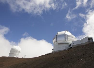 The Gemini Telescope and Canada-France-Hawaii Telescope are shown on Hawaii's Mauna Kea.