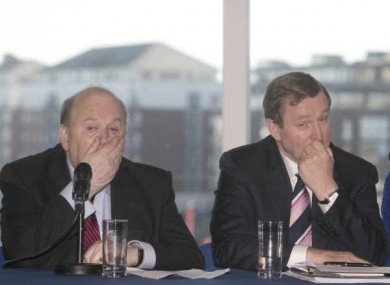 Finance Minister Michael Noonan (left) and Taoiseach Enda Kenny (right) are 73 and 65 years old respectively. Most workers must retire at 65.