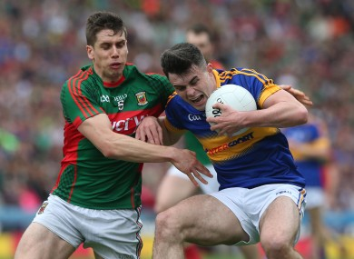 Tipperary's Michael Quinlivan in action against Mayo's Lee Keegan.