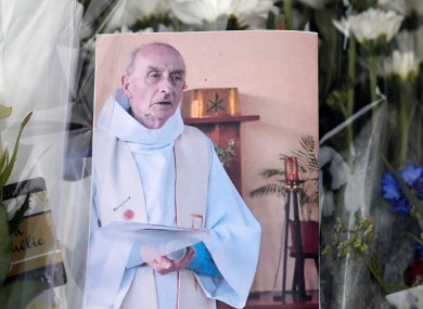 A picture of late Father Jacques Hamel