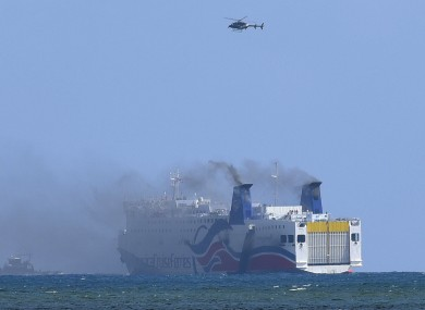 More than 500 passengers were evacuated from the ship.